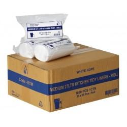 Bin Liner Kitchen Tidy 27lt Roll Pack White (1000)