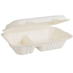 Snack Pack 2 Compartment 230 x 155 x 61mm Envirochoice Natural Fibre (250)