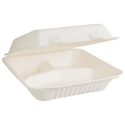 Envirochoice Dinner 3 Compartment 230x230x75mm Natural Fibre (250)