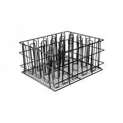Glass Basket 12 Compartment Black PVC Coated (5)
