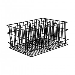 Glass Basket PVC Coated 16 Compartment Black (5)