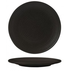 Zuma Round Coupe Plate Ribbed 210mm Charcoal (6)