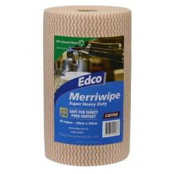 Edco Merriwipe Super Heavy Duty Wipe 45mtr Roll Coffee