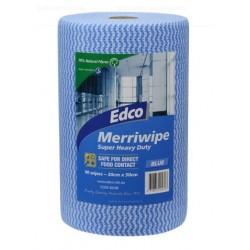 Edco Merriwipe Super Heavy Duty Wipe 45 mt Roll Blue