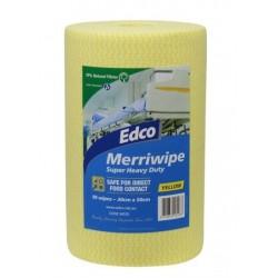 Edco Merriwipe Super Heavy Duty Wipe 45mtr Roll Yellow