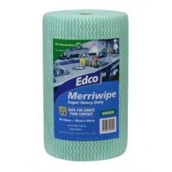 Edco Merriwipe Super Heavy Duty Wipe 45mtr Roll Green