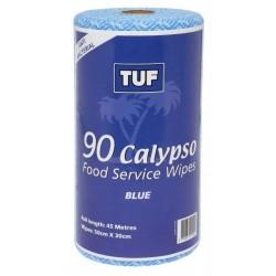Edco Calypso Food Service Wipes 45mtr Blue