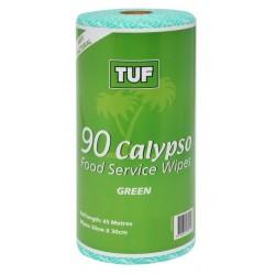Edco Calypso Food Service Wipes 45mtr Green