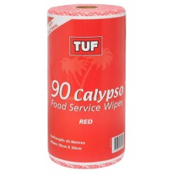 Edco Calypso Food Service Wipes 45mtr Red