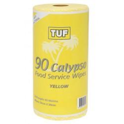 Edco Calypso Food Service Wipes 45mtr Yellow