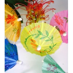 Wobbly Boot Cocktail Parasols 100mm Mixed Colours (100)