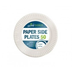 """Cast Away Coated Paper Side Plates 165mm / 6"""" (1000)"""