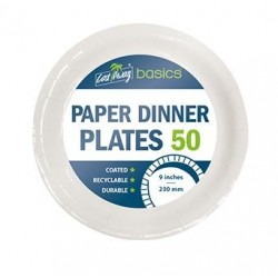 """Cast Away Coated Paper Side Plates 230mm / 9"""" (500)"""