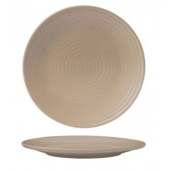 Zuma Round Coupe Plate Ribbed 210mm Sand (6)