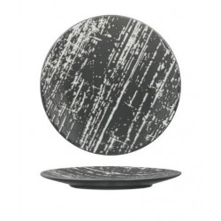 Luzerne Drizzle Round Flat Plate 160mm Grey with White (6)