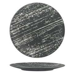 Luzerne Drizzle Round Flat Plate 230mm Grey with White (6)