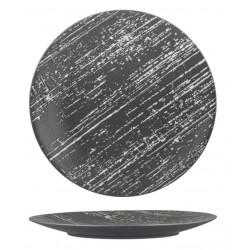 Luzerne Drizzle Round Flat Plate 280mm Grey with White (4)