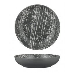 Luzerne Drizzle Round Share Bowl 210mm / 1000ml Grey with White (4)