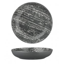 Luzerne Drizzle Round Share Bowl 230mm / 1160ml Grey with White (4)