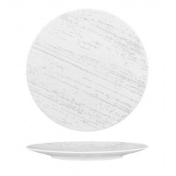 Luzerne Drizzle Round Flat Plate 230mm White with Grey (6)