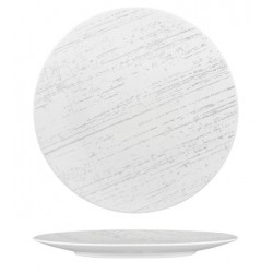 Luzerne Drizzle Round Flat Plate 280mm White with Grey (4)