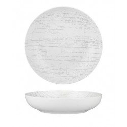 Luzerne Drizzle Round Share Bowl 210mm / 1000ml White with Grey (4)