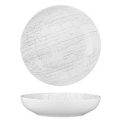 Luzerne Drizzle Round Share Bowl 260mm / 1900ml White with Grey (4)