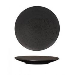 Luzerne Round Flat Plate 160mm Lava Black (6)