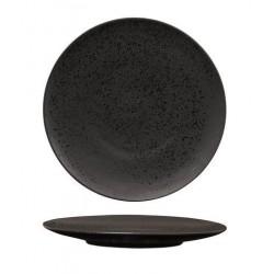 Luzerne Round Flat Plate 230mm Lava Black (6)