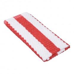 Toweling Wiper / Swab 600 x 390mm Red Stripe (12)