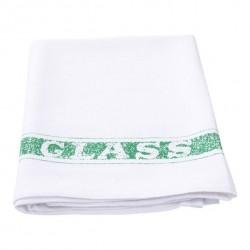Towel Glass Cotton 500 x 760mm Green Stripe (12)