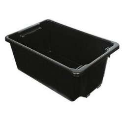Nally Crate 52ltr Stack and Nest 645 x 413 x 276mm IH051 Black