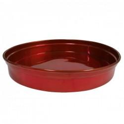 Chef Inox Round Bar Tray Aluminium Red 330mm