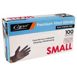 Capri Blue Vinyl Glove Powder Free Small (100)