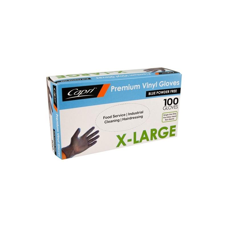 Capri Blue Vinyl Glove Powder Free Extra Large (100)