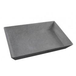 Jab Melamine Rectangular Deli Dish 350 x 250 x 70mm Matt Concrete