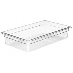 Food Pan Polycarbonate 1/1 100mm Deep / 13lt Clear (6)