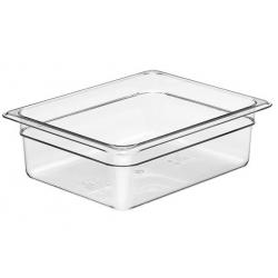 Food Pan Polycarbonate 1/2 100mm Deep / 5.9lt Clear (6)