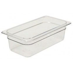 Food Pan 1/3 100mm Polycarbonate Deep 3.6lt Clear (6)