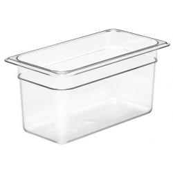 Food Pan 1/3 150mm Polycarbonate Deep 5.3lt Clear (6)