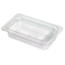 Food Pan 1/4 65mm Polycarbonate Deep 1.7lt Clear (6)