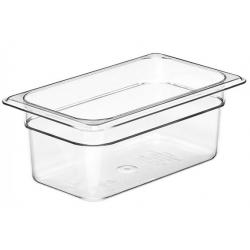 Food Pan 1/4 100mm Polycarbonate Deep 2.5lt Clear (6)