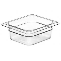Food Pan 1/6 65mm Polycarbonate Deep 1.0lt Clear (6)