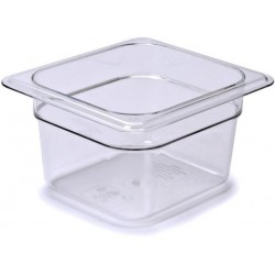 Food Pan 1/6 100mm Polycarbonate Deep 1.5lt Clear (6)