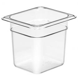 Food Pan 1/6 150mm Polycarbonate Deep 2.2lt Clear (6)