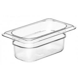 Food Pan 1/9 65mm Polycarbonate Deep 0.57lt Clear (6)