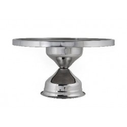 Cake Stand Stainless Steel High Profile 330mm