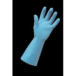 Edco Merrishine Rubber Glove Silver Lined Blue Small (12)