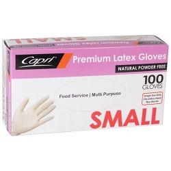 Capri Latex Glove Powder Free Small (100)