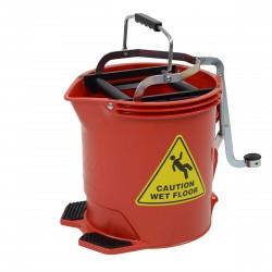 Edco 15 Litre Metal Wringer Bucket Red